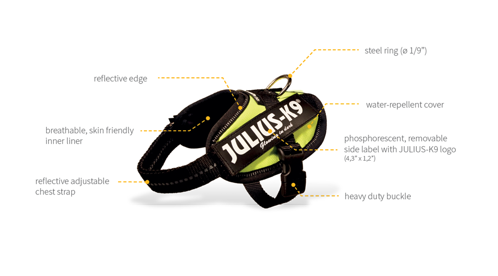 Julius-K9 harness description size baby