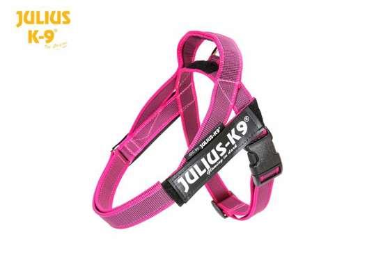 Julius-k9 IDC pink and grey belt harness