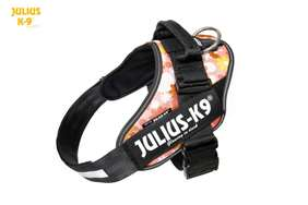 Julius-K9 IDC Powerharness Pink with Flowers Size: 1