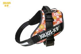 Julius-K9 IDC Powerharness Pink with Flowers Size: 2