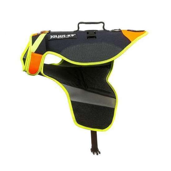 Multifuncional dog vest - UV orange