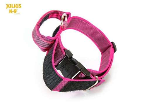Julius-K9 Collar with closable handle, pink - 40 mm