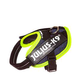 Picture of Julius-K9 IDC® Powerharness, Jeans with Neon,  Size Baby 2