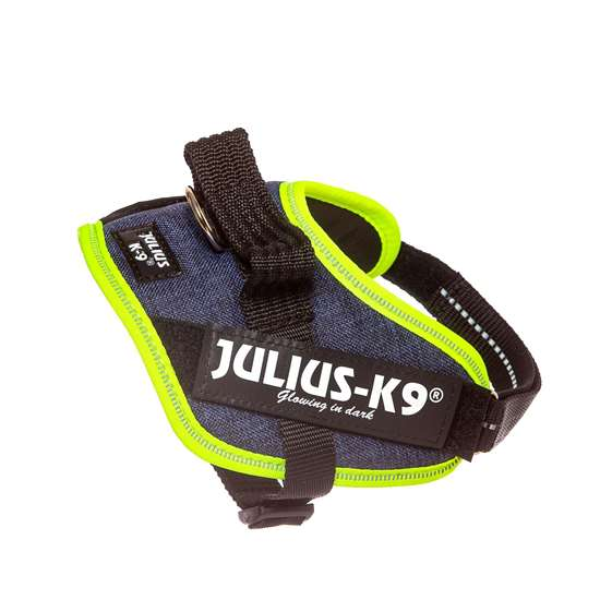 Picture of Julius-K9 IDC® Powerharness, Jeans with Neon, Size Mini-Mini