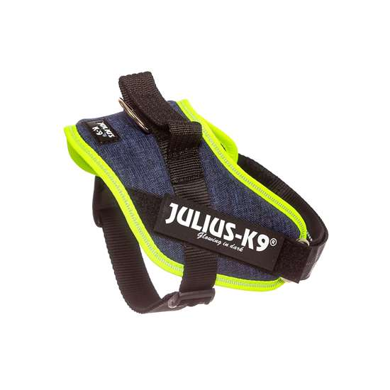 Picture of Julius-K9 IDC® Powerharness, Jeans with Neon, Size Mini
