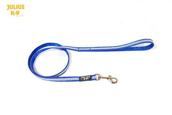 Picture of Julius-K9 IDC Tubular Webbing leash - Blue - 1m - With handle