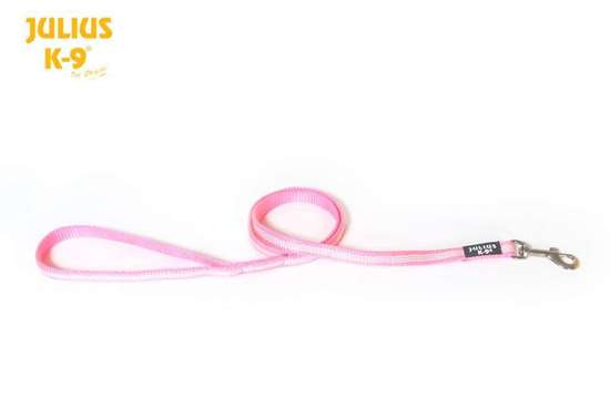 Picture of Julius-K9 IDC Tubular Webbing leash - Pink - 1.2m - With handle