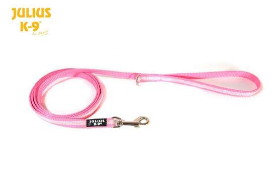Picture of Julius-K9 IDC Tubular Webbing leash - Pink - 1.8m - With handle