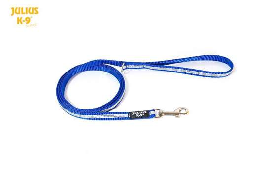 Picture of Julius-K9 IDC Tubular Webbing leash - Blue - 1.8m - With handle