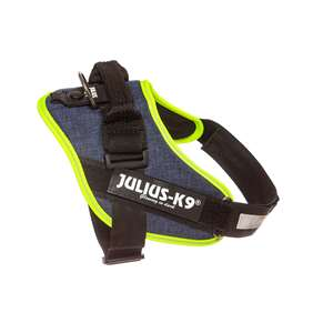 Picture of Julius-K9 IDC® Powerharness, Jeans with Neon, Size 0