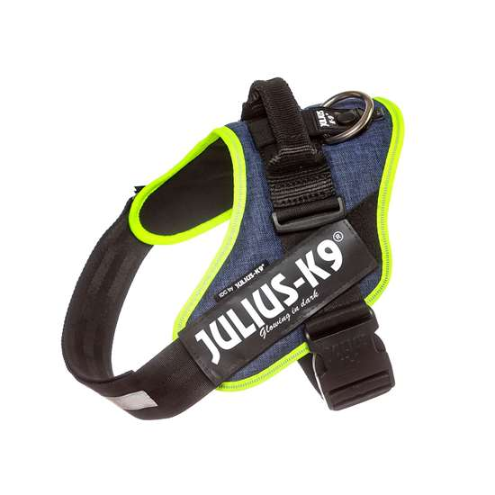 Picture of Julius-K9 IDC® Powerharness, Jeans with Neon, Size 1