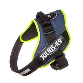 Picture of Julius-K9 IDC® Powerharness, Jeans with Neon, Size 3