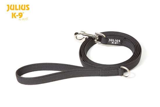 Picture of Julius-K9 Color & Gray Super Grip leash - 1.2 m - With handle and O-ring