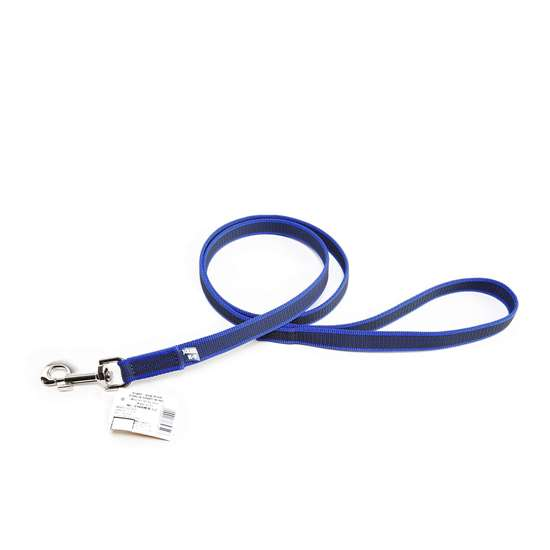 Picture of Julius-K9 Color & Gray Super Grip leash - 1.2 m - With handle - Blue - 20mm wide