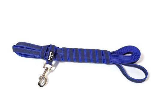 Picture of Julius-K9 Color & Gray Super Grip leash - 10 m - With handle - Blue - 20mm wide