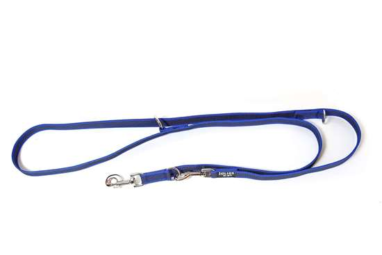 Picture of Julius-K9 Color & Gray Super Grip Double leash - 2.35 m - Blue - 20mm wide