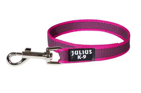 Picture of Julius-K9 Color & Gray Super Grip leash - 45 cm - Without handle - Pink - 20mm wide