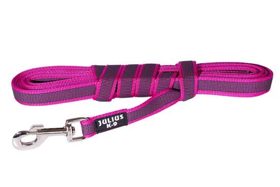 Picture of Julius-K9 Color & Gray Super Grip leash - 3 m - Without handle - Pink - 20mm wide