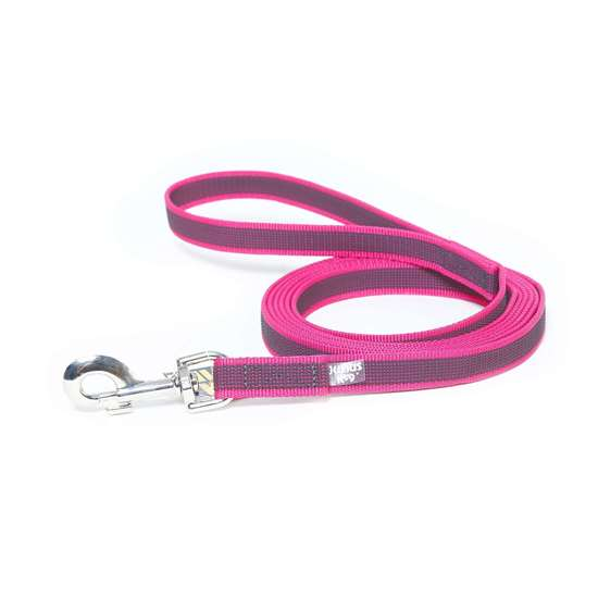 Picture of Julius-K9 Color & Gray Super Grip leash - 3 m - With handle - Pink - 20mm wide