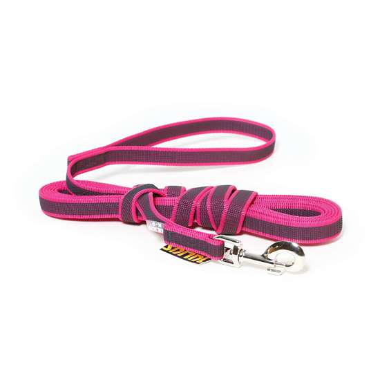 Picture of Julius-K9 Color & Gray Super Grip leash - 5 m - With handle - Pink - 20mm wide