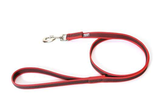 Picture of Julius-K9 Color & Gray Super Grip leash - 1 m - With handle - Red - 20mm wide
