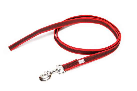 Picture of Julius-K9 Color & Gray Super Grip leash - 2 m - Without handle - Red - 20mm wide