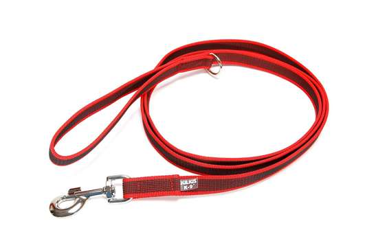 Picture of Julius-K9 Color & Gray Super Grip leash - 2 m - With handle - Red - 20mm wide