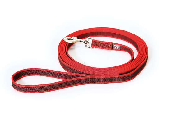Picture of Julius-K9 Color & Gray Super Grip leash - 3 m - With handle - Red - 20mm wide