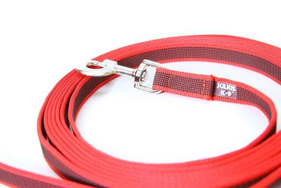 Picture of Julius-K9 Color & Gray Super Grip leash - 5 m - Without handle - Red - 20mm wide