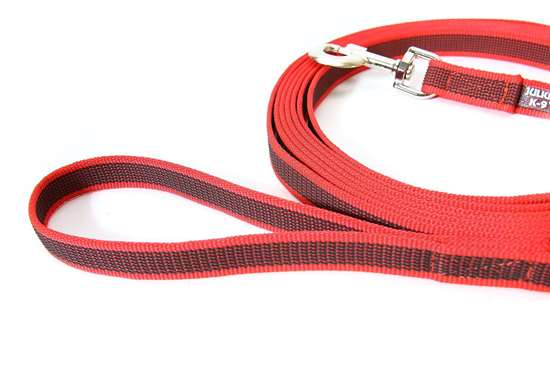 Picture of Julius-K9 Color & Gray Super Grip leash - 5 m - With handle - Red - 20mm wide