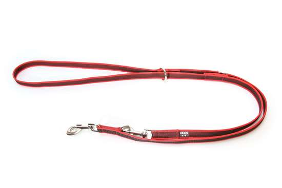 Picture of Julius-K9 Color & Gray Super Grip Double leash - 2.35 m - Red - 20mm wide