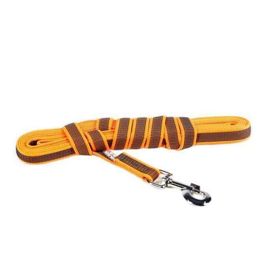 Picture of Super-grip leash 20 mm / 0,78 inch, Orange-Grey - different lenghts